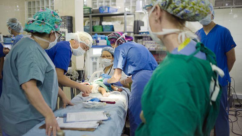 Hospital de la Familia Foundation operating room cleft lip surgery
