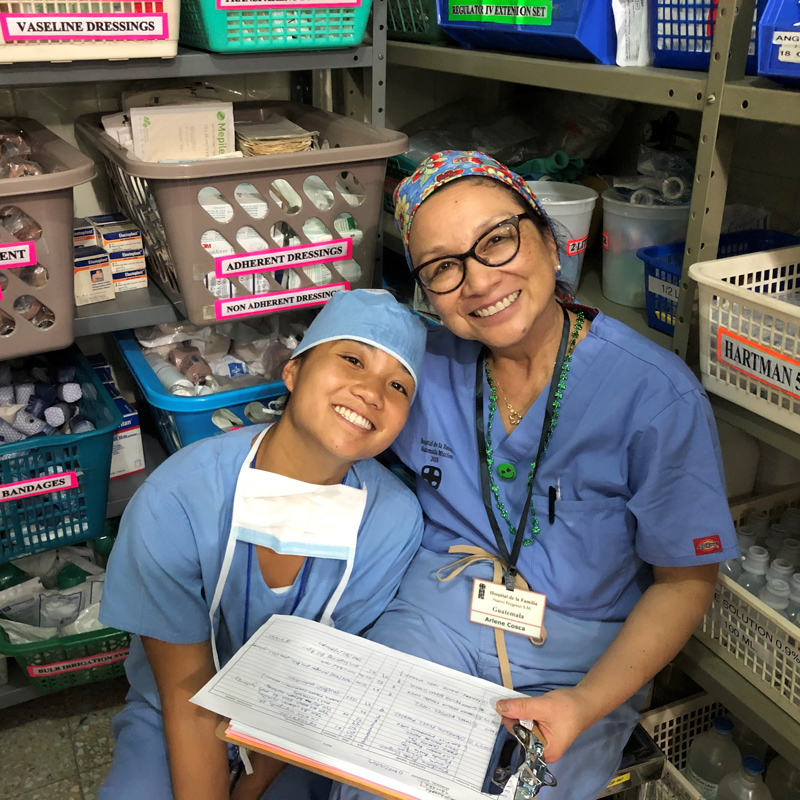 Hospital de la Familia Foundation - doc volunteers in scrubs