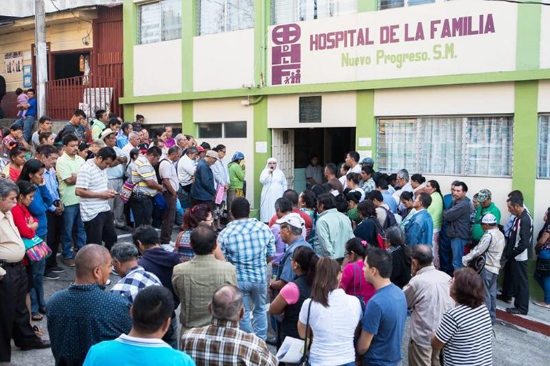 Hospital de la Familia Foundation out side the hospital